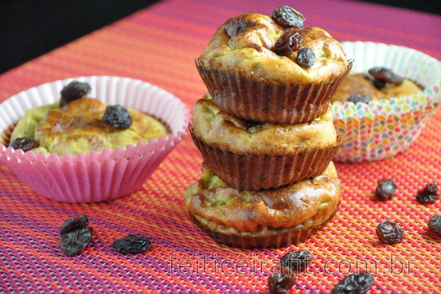 Muffins de banana fitness (sem glúten, sem açúcar)