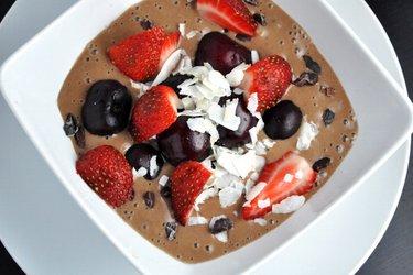 Sorvete light de chocolate saudável (sem glúten e sem açúcar)