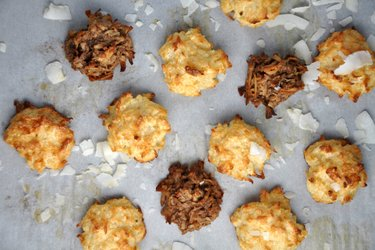 Macarons saudáveis de coco