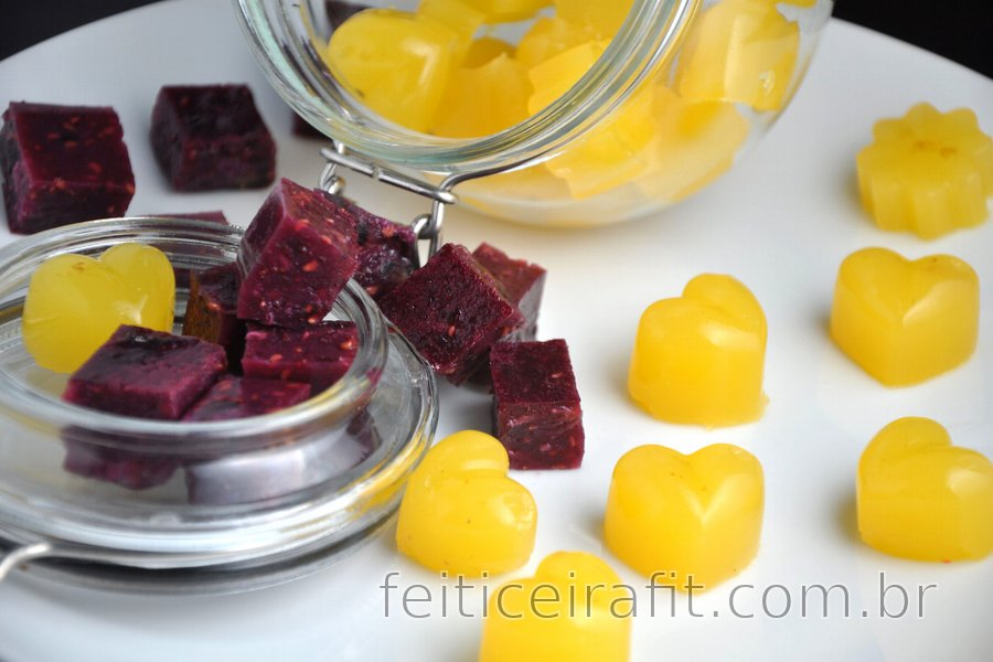 Balas de gelatina caseiras e saudáveis