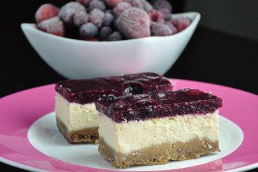 Cheesecake de iogurte fitness (sem glúten e sem açúcar)