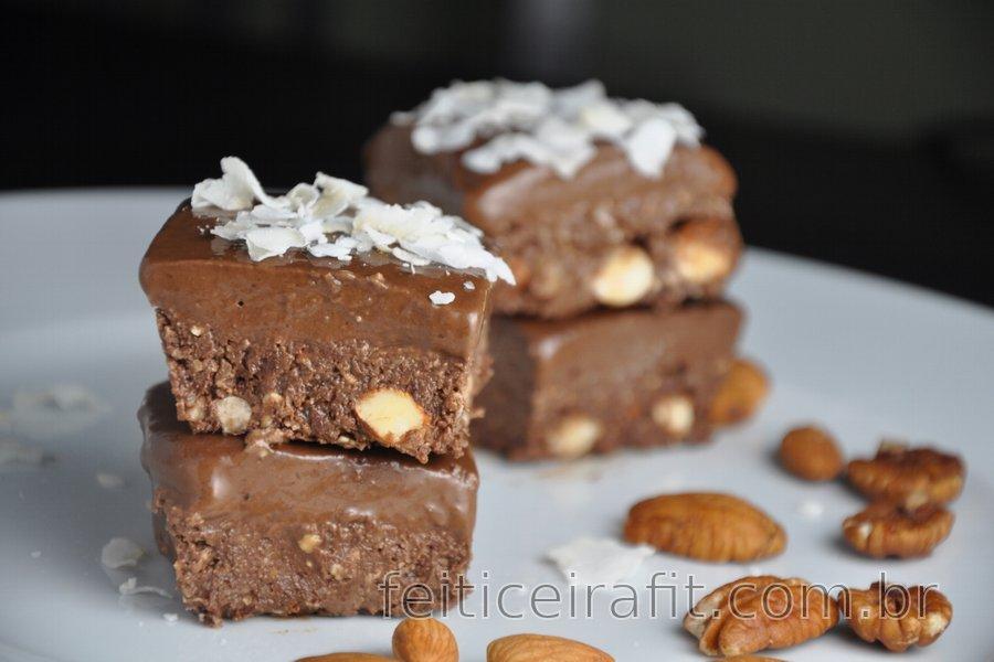 Quadradinhos de chocolate crudívoros (sem glúten)
