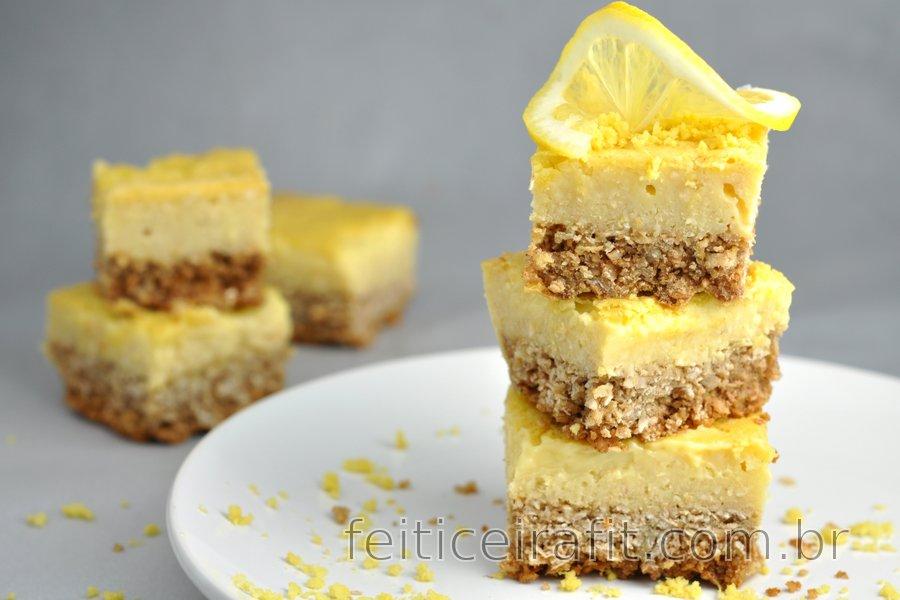 Torta gelada de limão sem glúten