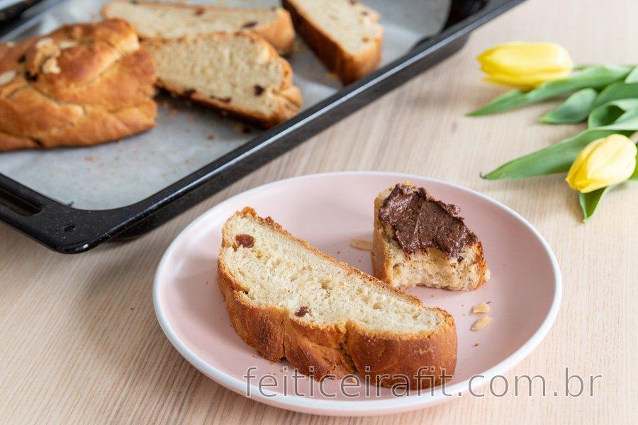 Pão trançado de espelta