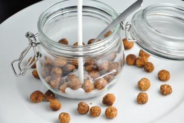Bolinhas de Cereal Light (baunilha/cacau)