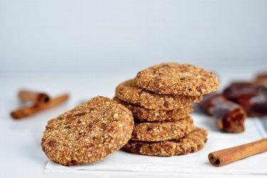 Cookies de aveia e canela sem trigo
