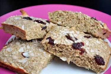 Pão de aveia com alto teor de proteína