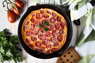 Frittata low carb de tomate