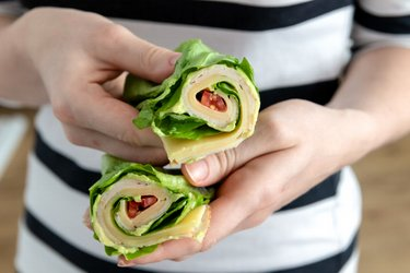 Wrap de alface low carb