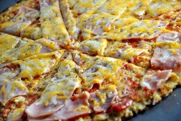 Pizza saudável de couve-flor