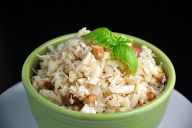 """""""Risoto"""" de coco e couve-flor sem arroz"""