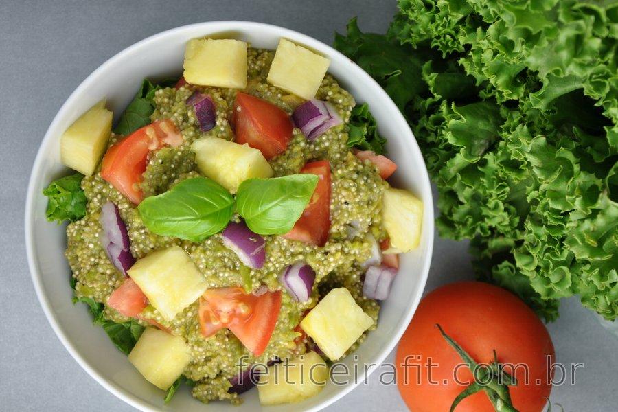 Guacamole com quinoa