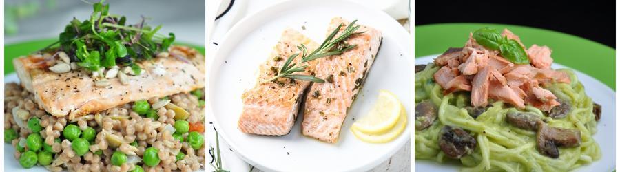 Receitas saudáveis de saladas com salmão