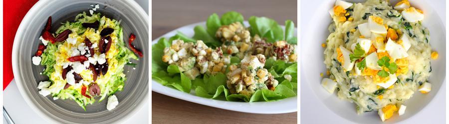 Receitas saudáveis de salada de ovos