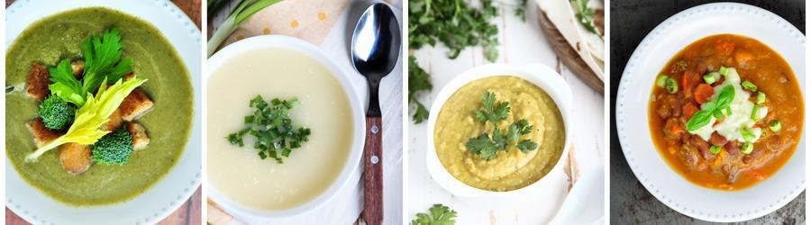 Receitas de sopas com alto teor de proteína