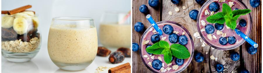 Smoothies e drinques com alto teor de proteína