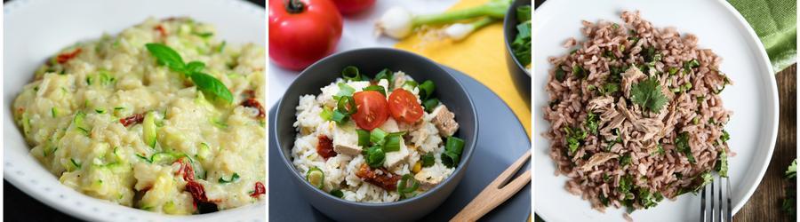 Receitas de arroz com alto teor de proteína