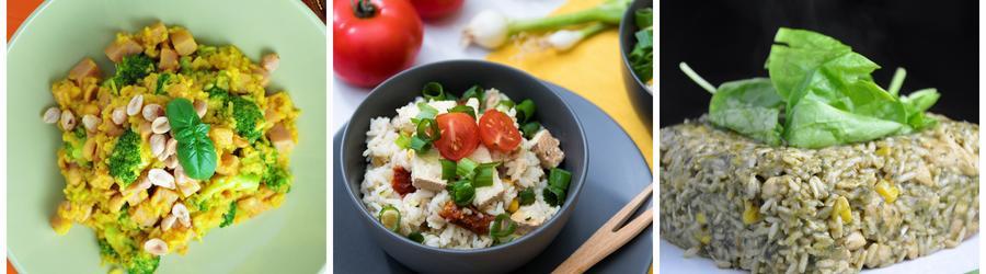 Receitas veganas saudáveis com arroz
