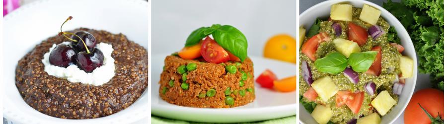 Receitas sem glúten saudáveis com quinoa