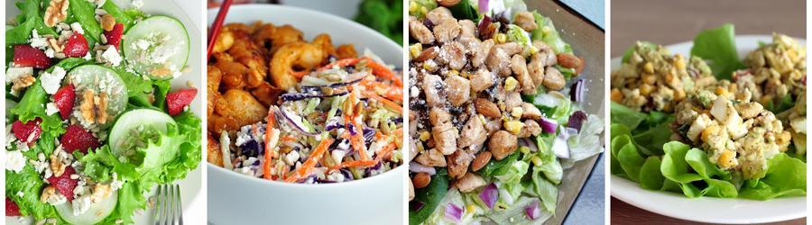 Receitas saudáveis de saladas