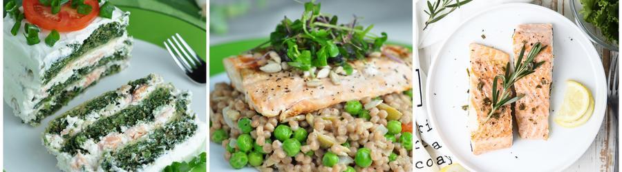 Receitas de salmão com alto teor de proteína