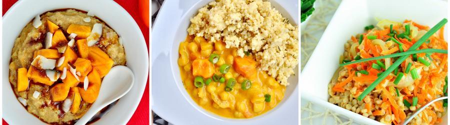 Receitas veganas saudáveis com cuscuz marroquino