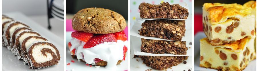 Receitas de bolos e sobremesas saudáveis