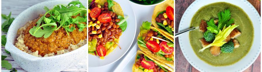 Receitas veganas saudáveis com vegetais