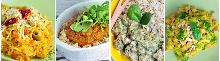 Receitas saudáveis com arroz