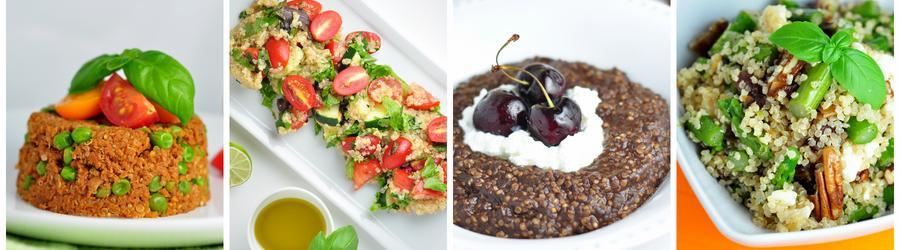 Receitas saudáveis com quinoa