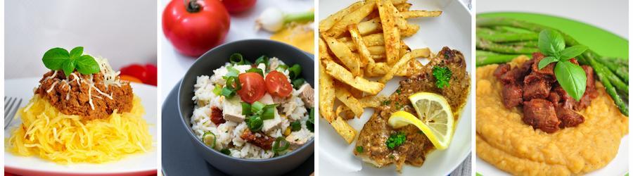 Receitas saudáveis sem glúten para o almoço e jantar