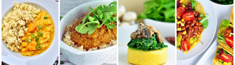 Receitas veganas saudáveis para o almoço ou jantar