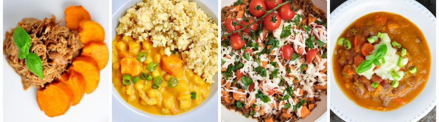 Receitas saudáveis com batata-doce para o almoço e jantar
