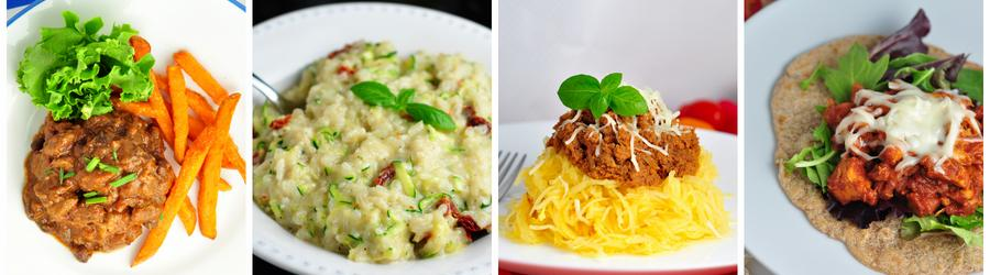 Receitas saudáveis sem ovos para o almoço e jantar