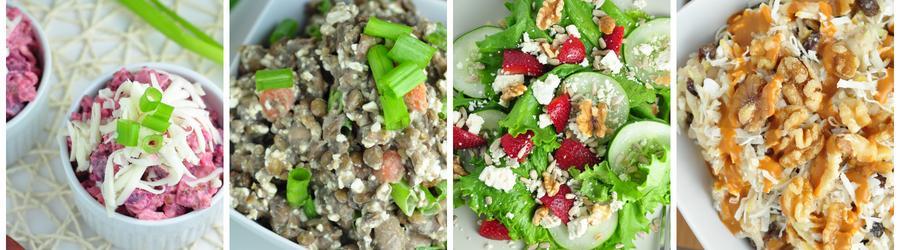 Receitas de saladas com poucas calorias para emagrecer
