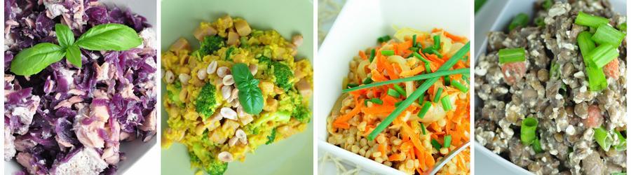 Receitas de saladas com pouca gordura