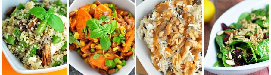Receitas saudáveis de saladas veganas