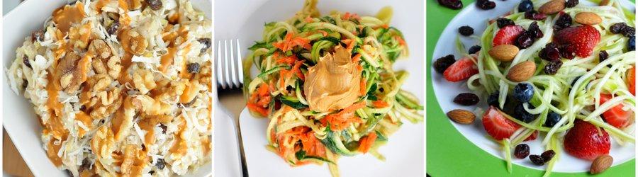 Receitas saudáveis de salada de abobrinha