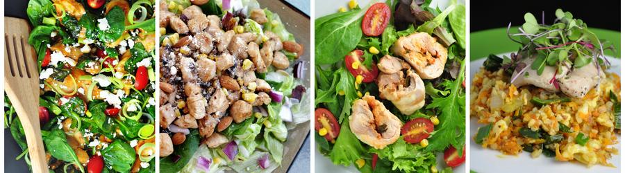 Receitas saudáveis de salada com frango