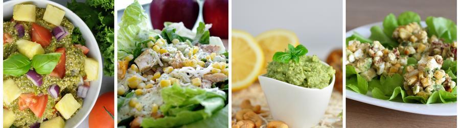 Receitas saudáveis de salada com abacate