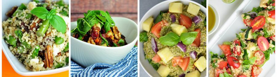 Receitas saudáveis de salada de quinoa